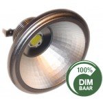 AR111 - 7 Watt Sharp LED Narrow 15 graden - dimbaar!  lichtbeleving 50 Watt 2800K