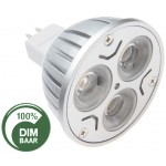 LED lamp | 3x1 Watt | MR16 | dimbaar | vervangt 20 Watt