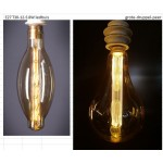 LEDlamp | E27 | 8W | Big Pear 30cm Vintage Design Light Kooldraad-ledlamp niet verblindend 1800K | dimbaar | lichtbeleving 60 Watt