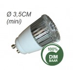Gu10 mini | 3x1.5 Watt | GU10 | Dimbaar | vervangt 35 Watt