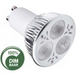 LED lamp | 3x2 Watt  Cree | GU10 | Dimbaar | vervangt 35 Watt | 2600K